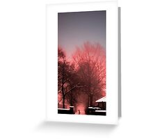Walking Through Fog Greeting Card