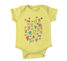 pattern with goats and frogs One Piece - Short Sleeve