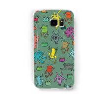 pattern with goats and frogs Samsung Galaxy Case/Skin