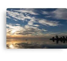 Paddling on the Early Morning Mirror Canvas Print