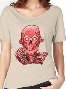 Zombie Skull Head Red Women's Relaxed Fit T-Shirt