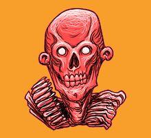 Zombie Skull Head Red Unisex T-Shirt