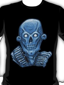 Blue Zombie Skull Head T-Shirt