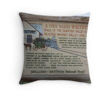 Ghost Towns - Whitney, Oregon Throw Pillow