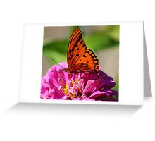 Butterfly at work Greeting Card