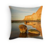 Huntsman Cliff, Saltburn-by-the-Sea, Cleveland Throw Pillow