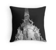 Monumento a Colon, Barcelona B/W Throw Pillow
