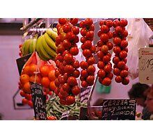 Hanging veggies. Photographic Print