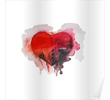 Watercolor heart Poster