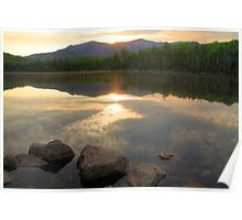 Franconia Ridge at Sunrise From Lonesome Lake Poster