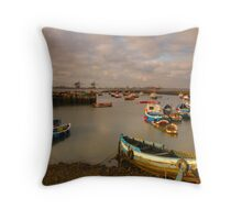 Paddy's Hole, South Gare, Redcar, Cleveland Throw Pillow