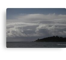on the coast but under the clouds Canvas Print