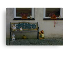 typical Ansbach area porch bench Canvas Print