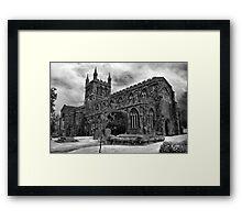 Parish Church, Crediton, Devon Framed Print