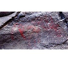 odd red earth elephant pictograph Photographic Print