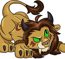 Tauren Cat Druid Sticker by Cadistra