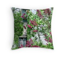 Behind the lilacs Throw Pillow