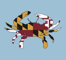 Maryland Flag Crab Kids Tee