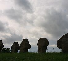 mysterious tomb stones in Wolfram, Germany by fototaker