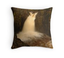 Pecca Falls, Ingleton, Ribblesdale, Yorkshire Dales Throw Pillow