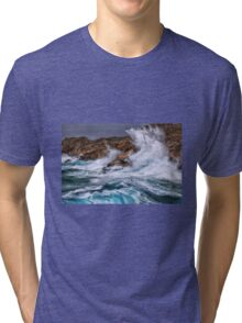Gale with huge waves crashing Tri-blend T-Shirt