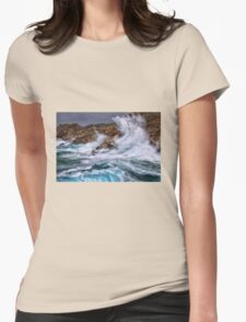 Gale with huge waves crashing Womens Fitted T-Shirt