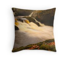 Beezley Falls, Ingleton, Ribblesdale, Yorkshire Dales Throw Pillow