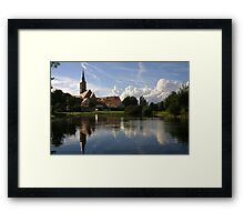 reflecting Wolfram in southern Germany Framed Print
