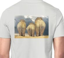 Traveling Elephant Family  Unisex T-Shirt
