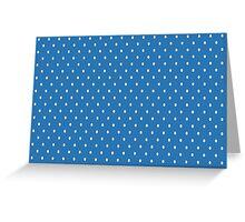 Blue Polka Dots Greeting Card
