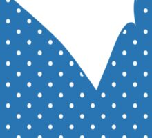 Blue Polka Dots Sticker