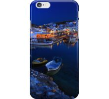 Village of Naousa in Paros island, viewed at a full moon rise iPhone Case/Skin
