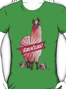 Custom color funny llama yarn knitting crochet T-Shirt