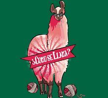 Custom color funny llama yarn knitting crochet Womens T-Shirt