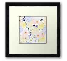 Summer Floral Pattern Framed Print