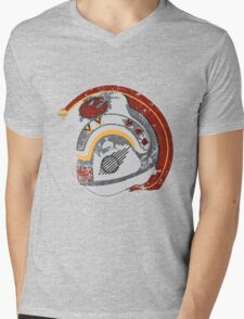 Battle Worn Mens V-Neck T-Shirt