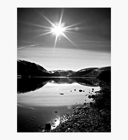 Sparkling Sun light Over St.Mary's Loch,Scotland. Photographic Print