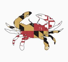 Maryland Flag Crab - Distressed by welikestuff
