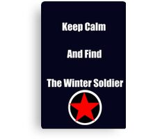 Keep Calm and Find the Winter Soldier Canvas Print