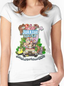 It's a Small Jurassic World (1A) Women's Fitted Scoop T-Shirt