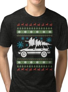 xmas wagon (lifted) Tri-blend T-Shirt