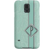 1920s Blue Deco Swing with Monogram letter P Samsung Galaxy Case/Skin