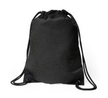 Black Snake Skin (Black Heart) Drawstring Bag