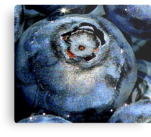 Blueberry in Water, With Sunny Bling Metal Print