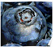 Blueberry in Water, With Sunny Bling Poster