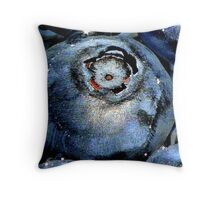 Blueberry in Water, With Sunny Bling Throw Pillow