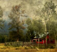 Storm Approaching White Birch Cottage by RC deWinter