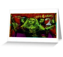 Play Nice, Kill Zombies Greeting Card