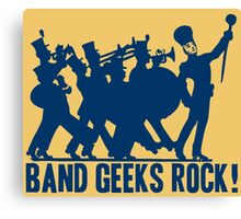 BAND GEEKS ROCK Canvas Print