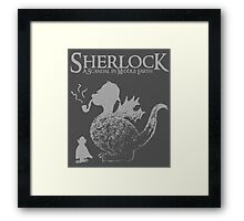 Sherlock: A Scandal in Middle-earth (Grey) Framed Print